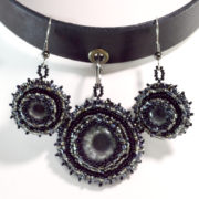 Black Gothic Choker Eye Jewelry