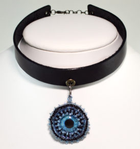 evil eye choker gothic jewelry