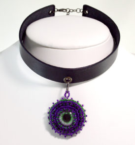 Gothic Purple Choker Necklace