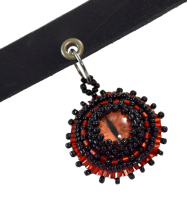 black and red choker dragon eye