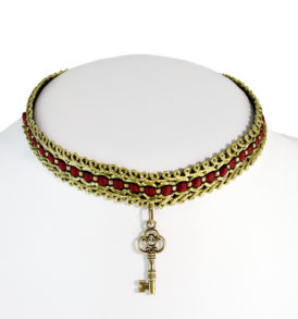 Ladies Choker Necklace with Key