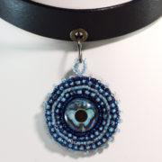Blue choker-Butterfly-Pendant