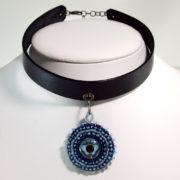 blue Choker Butterfly Necklace