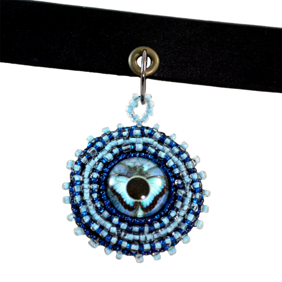 Blue Choker Necklace
