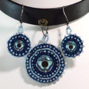 Blue Choker Necklace Set