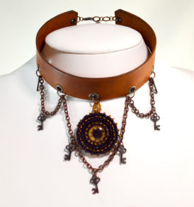 Leather Steampunk Choker
