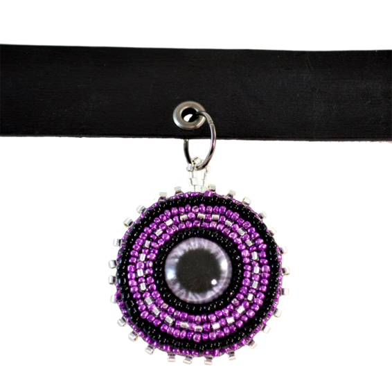 Purple Eye Choker