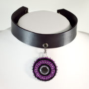 Purple Eye Choker Collar