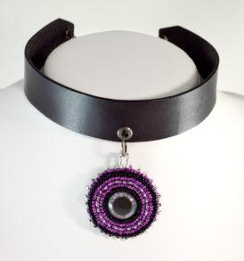 Purple Eye Choker Collar