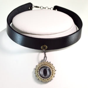Silver Cat Eye Choker