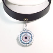 Blue Zombie Eye Choker