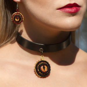 Dragon choker and Earrings
