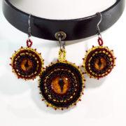 Dragon Choker and Earrings jewelry