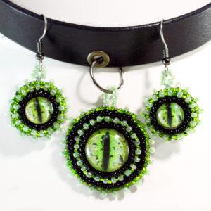 dragon choker necklace set
