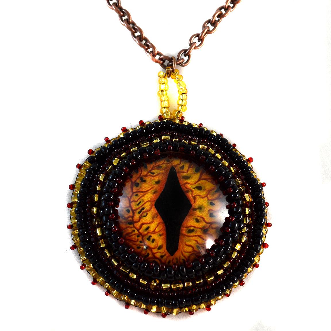 Dragon Pendant Necklace Twisted Pixies