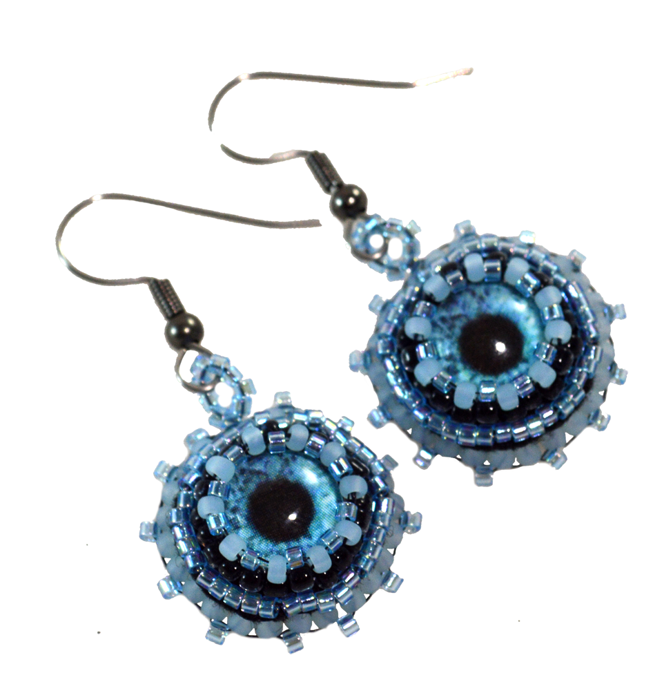 beaded halloween earrings pattern