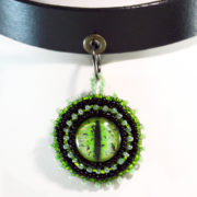 green dragon eye pendant