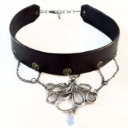 silver octopus choker necklace