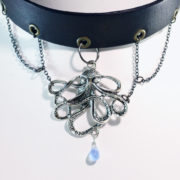 silver octopus necklace choker