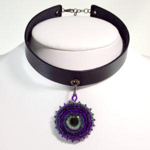 Gothic Purple Choker Necklace