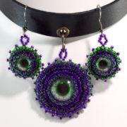 Purple Choker Necklace Set