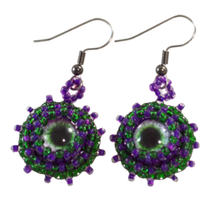 Purple Green Earrings