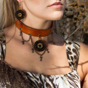 Steampunk Choker Jewelry Set