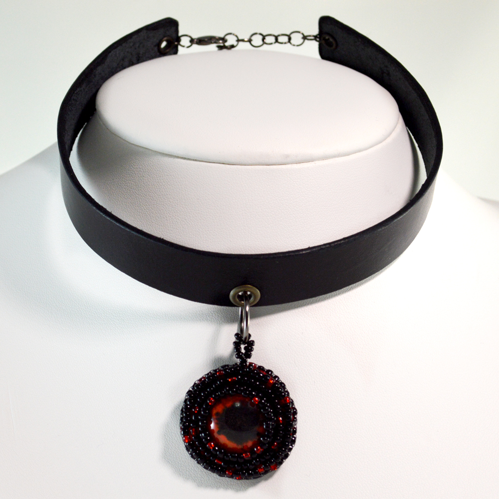 Vampire Choker in Red and Black