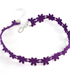 hippie purple choker
