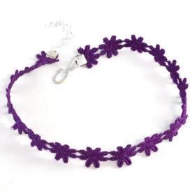 hippie purple choker