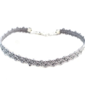Thin Choker in Silver