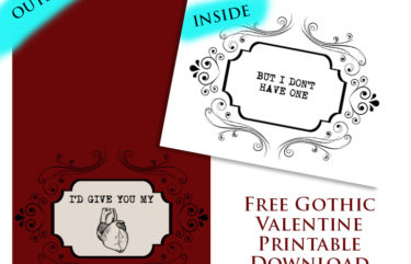 Gothic Valentine Free Download Printable