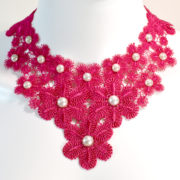 Pink Floral Necklace