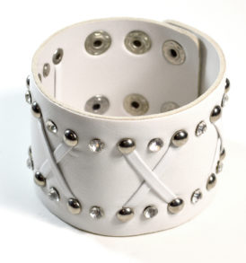 White Leather Cuff bracelet