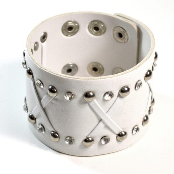 White Leather Cuff bracelet