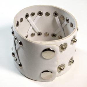 Whit Leather Cuff Bracelet