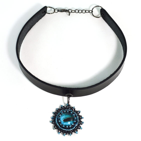 Blue Octopus Choker