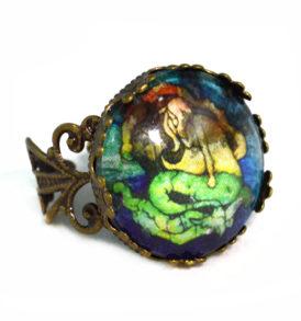 Dark Mermaid Jewelry Ring