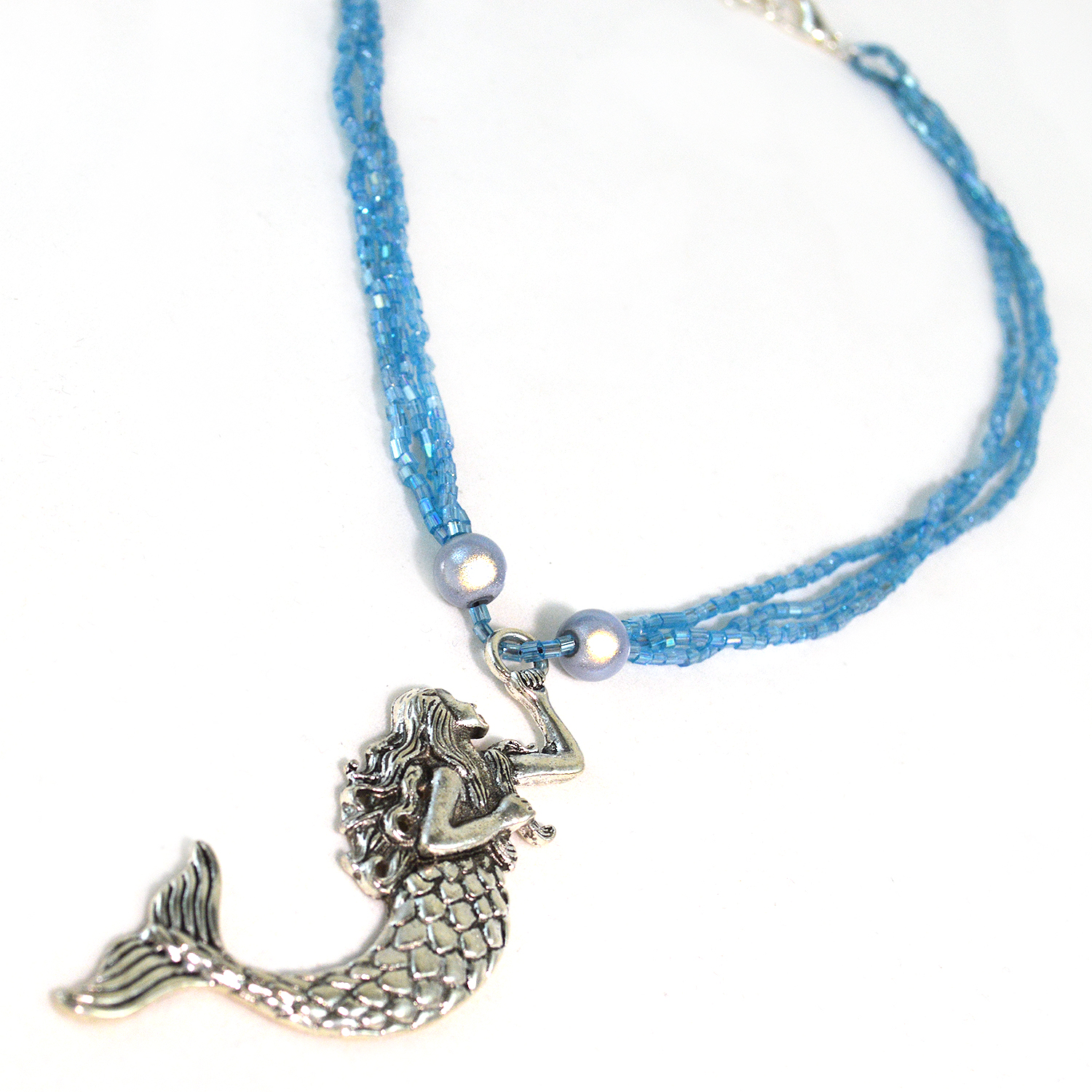 Mermaid Pendant Necklace - 17 to18 Inches - Twisted Pixies