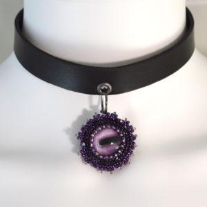 purple octopus choker