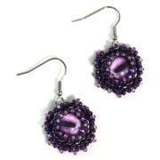 purple octopus eye earrings