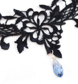 black crystal choker necklace