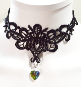 black jeweled choker